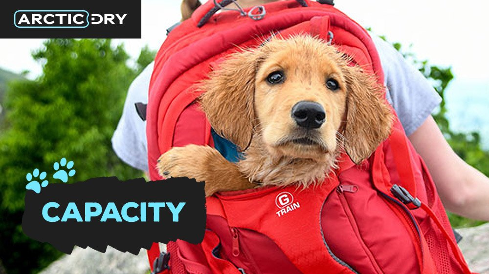 best-hiking-backpacks-for-dogs-capacity